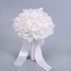 Simples e elegante Forma livre Espuma Buquês de noiva - (123138682)