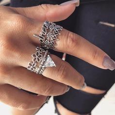 Mode Legering Steentjes met Strass Vrouwen Fashion Ringen (Set van 6)