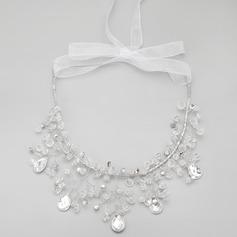 Элегантные сплав с горный хрусталь/хрусталь женские ожерелья