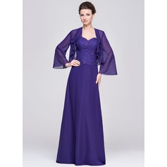 A-Line/Princess Sweetheart Floor-Length Chiffon Mother of the Bride Dress
