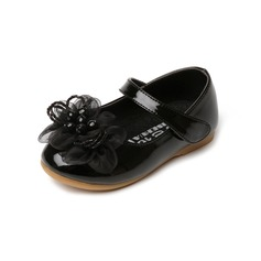 Kinderen Patent Leather Flat Heel Closed Toe Flats met strik