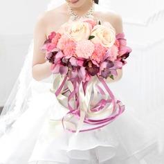 Satin Bridal Bouquets/Bridesmaid Bouquets - (123124500)