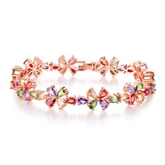 Chic Rose Gold Plated With Zircon Ladies' Fashion Bracelets