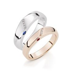 Sterling silver Parets ringar