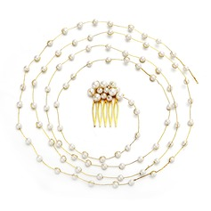Ladies Lovely Imitation Pearls Combs & Barrettes With Venetian Pearl (Sold in single piece)