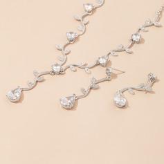 Elegant Alloy/Zircon With Cubic Zirconia Ladies' Jewelry Sets