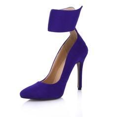 Замша Высокий тонкий каблук На каблуках Закрытый мыс обувь