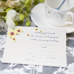 Blommig Stil Enkla kort Invitation Cards