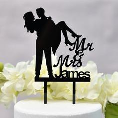 Personalizado Dulce Amor/Mr & Mrs Acrílico Decoración de tortas (Sold in a single piece)