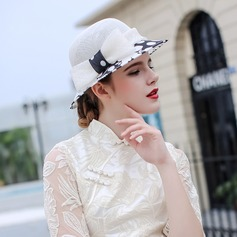 Ladies' Beautiful/Fashion/Glamourous/Elegant/Unique/Amazing/Eye-catching/Charming/Fancy/Romantic/Vintage/Artistic Cambric With Bowknot Beach/Sun Hats