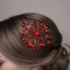 Damer Vackra Och Kristall/Legering Blommor & Fjädrar