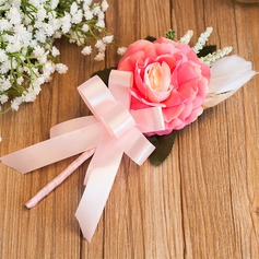 Simple Free-Form Satin Boutonniere