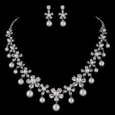 Charme Pérola/Zircon Senhoras Conjuntos de jóias