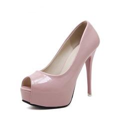 Kvinnor PU Stilettklack Pumps Plattform Peep Toe med Andra skor