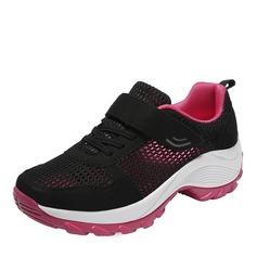 Femmes cuir maille avec Velcro Baskets & Chaussures de sport