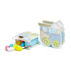 Baby Carriage Favor Boxes (Set of 12)
