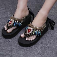 Kvinnor Majskli Kilklack Kilar Tofflor med Strass skor