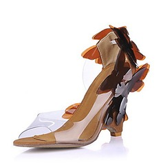 Women's PVC Wedge Heel Sandals Wedges With Flower shoes (087015260)