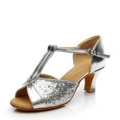 De mujer Brillo Chispeante Tacones Danza latina Zapatos de danza