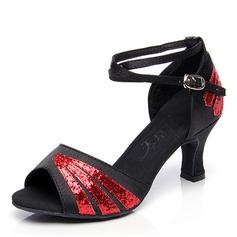 Vrouwen Kunstleer Sandalen Latijn Dansschoenen