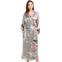 Satin Bride Bridesmaid Mom Floral Robes (248163159)