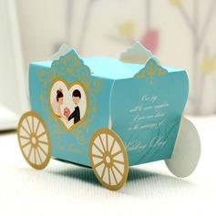 Noiva & Noivo/Carruagem Caixas do Favor (conjunto de 12)