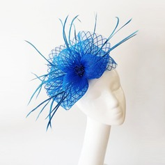Ladies' Beautiful Feather/Net Yarn With Feather Fascinators