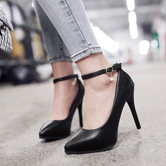 Women's Leatherette Stiletto Heel Pumps With Chain shoes