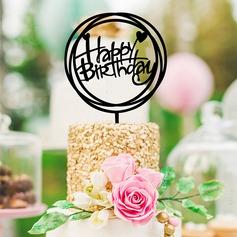 Классический/С Днем Рождения акрил Фигурки для торта