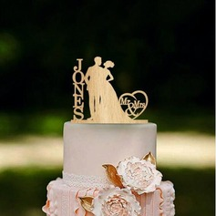personalizované Classic pár Akryl/Dřevo Ozdoby na dort