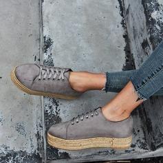 Kvinner Semsket Flat Hæl Flate sko med Blondér sko