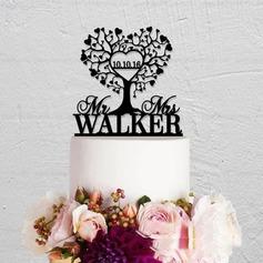 Heart Acrylic Cake Topper