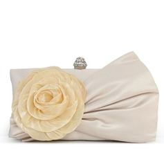 Gorgeous Silk/Lace With Flower/Rhinestone Clutches