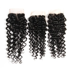 """4""""*4"""" 4A Non remy Deep Human Hair Closure (Sold in a single piece) 40g"""