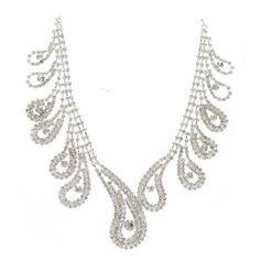 Красивая сплав с горный хрусталь женские ожерелья