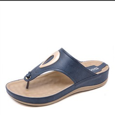 Femmes PU Talon plat Sandales chaussures