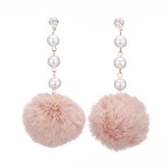 Unik Legering Fauxen Pärla med Oäkta Pearl Kvinnor Mode örhängen (Set av 2)
