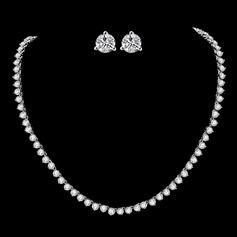 Único Cobre/Zircon Mulheres/Senhoras Conjuntos de jóias