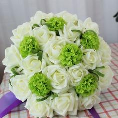 Magnifique Rond Satiné Bouquets de mariée -