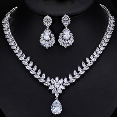 Ladies' Elegant Rhinestones/Copper Rhinestone Jewelry Sets For Bride