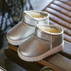 Мужская дерматин Плоский каблук Круглый носок Ботинки