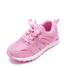 Unisexe Bout fermé Mesh talon plat Chaussures plates Sneakers & Athletic avec Dentelle