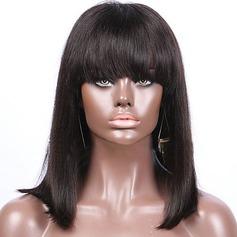 4A non remy Tout droit Cheveux humains Perruques avant en dentelle