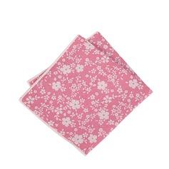 Blommig Bomull Pocket Square