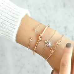 """""""Aimez-vous"""" Alliage Strass avec Strass Femmes Bracelets de mode (Lot de 4)"""