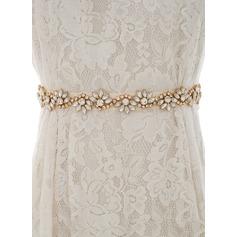 Nizza/Exquisiten Satin Schleifenbänder/Stoffgürtel mit Strasssteine/Faux-Perlen