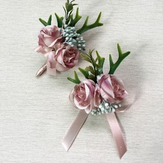 Gorgeous Artificial Silk Flower Sets (set of 2) - Wrist Corsage/Boutonniere