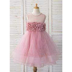 Платье Для Балла/Принцесса Длина до колен Нарядные платья для девочек - Тюль Без Рукавов Круглый