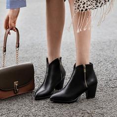 De mujer PU Tacón ancho Salón Botas أحذية (088215215)