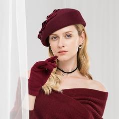 Damen Glamourös/Klassische Art/Einfache/Jahrgang/Künstlerische Wollen mit Faux-Perlen Baskenmütze Hut